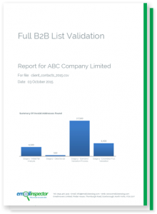 Full Email Validation Report Sample